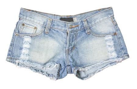 de vaqueros: Pantalones cortos de jean aislados Foto de archivo