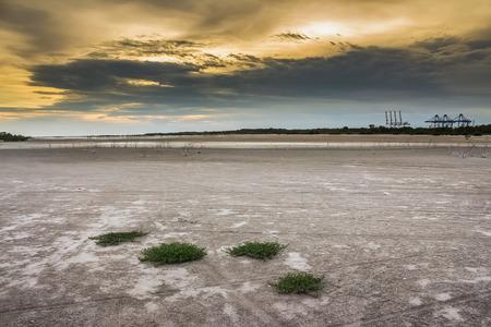 Barren ground sunset Stock Photo