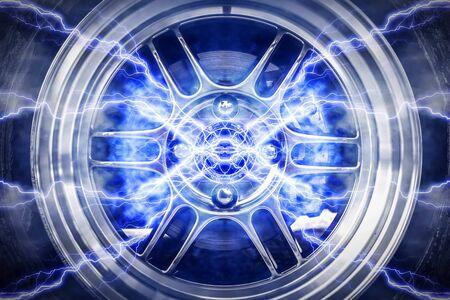 vulcanization: Abstract High Power Wheels Lightning