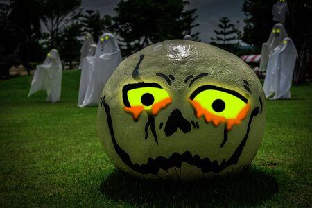 necropolis: Halloween pumpkins and dark