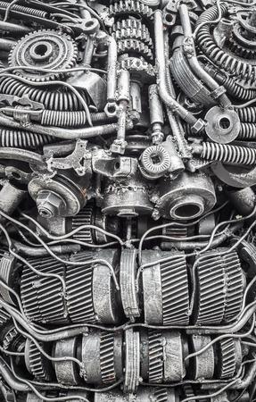 Background metal steel gear robot Stockfoto