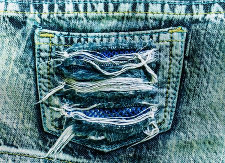 fold back: Take photo Torn jeans pocket