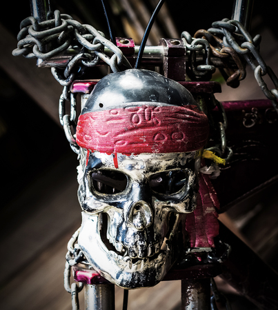 masters of rock: Skull steel chain.