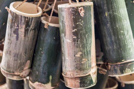 tube: bamboo tube Stock Photo