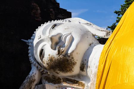 reproduce: Sleeping Buddha head Stock Photo