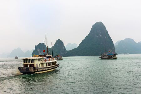 rushes: Halong Bay,Vietnam Stock Photo