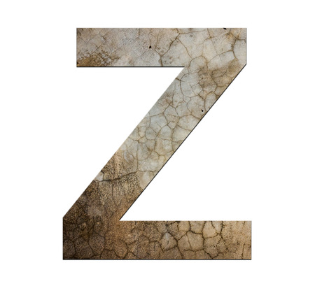 cracked cement: z letter cracked cement texture isolate