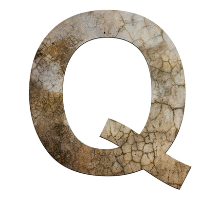 cracked cement: q letter cracked cement texture isolate