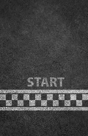 Zacznij linii wyścigowej tło Zdjęcie Seryjne