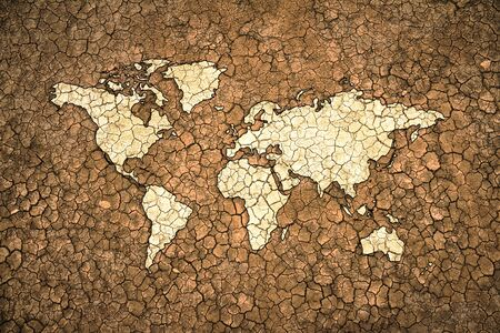 dry land: global drought concept