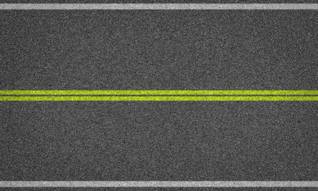 Asphalt road background with line marking