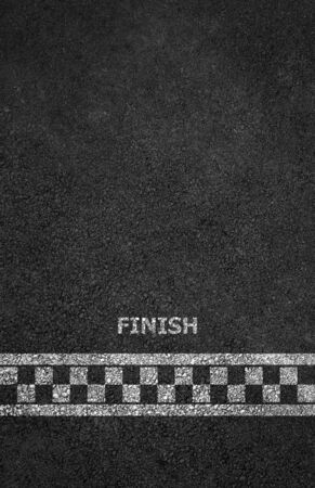 Finish line racing background Stock Photo