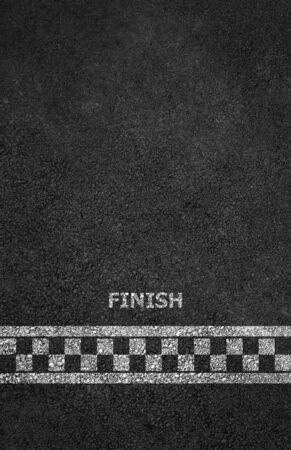 Finish line racing background Stockfoto