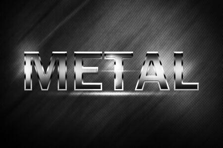 metal alphabet: Metal alphabet and symbols Stock Photo