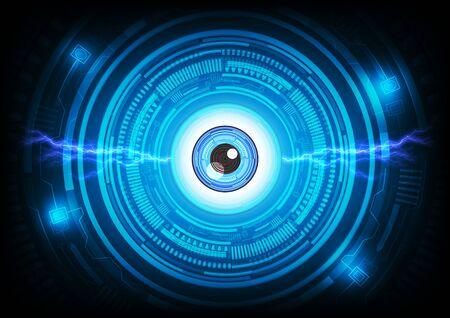 futuristic eye: Abstract eye background. Futuristic technology style.