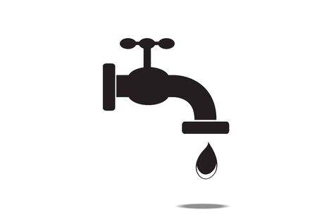 faucet icon on white background.