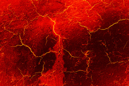 heat red cracked ground texture after eruption volcano