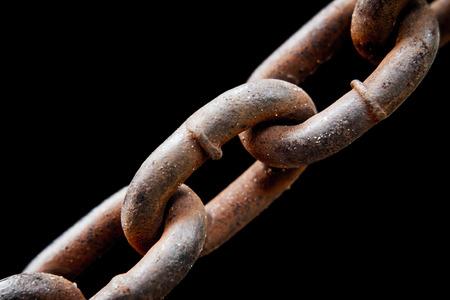 rusty chain: Rusty old chain.