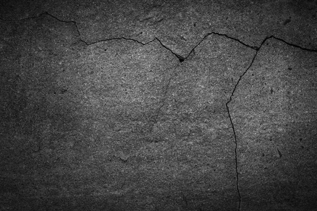 crack: asphalt crack Stock Photo