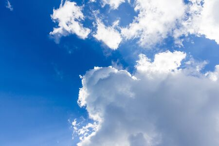 blue sky with cloud bright beautiful art of nature and copy space for add text Stock Photo