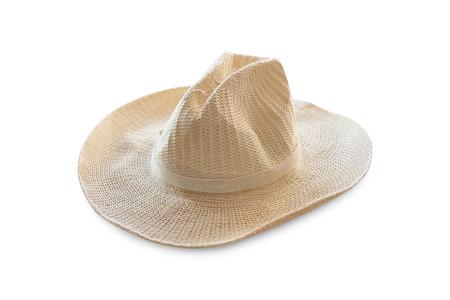 chapeau de paille: straw hat isolate Banque d'images