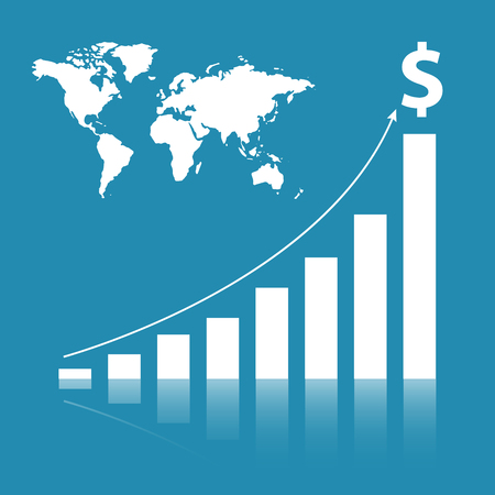 Business stat background Stock Photo