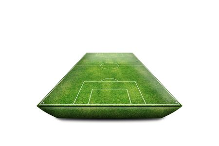 Green Football Stadium field 3D isolate