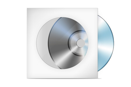 Compact disk with cover illustration (cd, case, dvd)