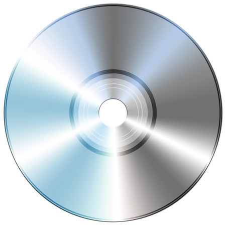 Compact disc isolate on white background