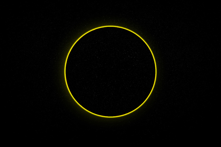 Abstract scientific background - full eclipse, black hole.