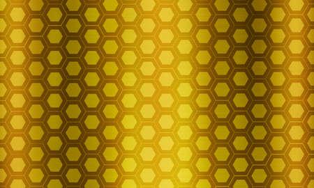 Hexagon gold metal background 版權商用圖片