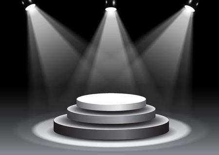 3D illustration of 3D rendering, empty stage in spotlights Reklamní fotografie - 89095195