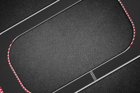 Vista superior do circuito de corrida Foto de archivo - 94670668