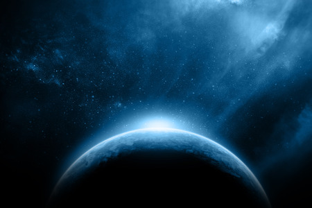 Abstract outer earth space nebula fantasy Stock Photo