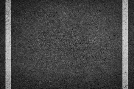 background texture of rough asphalt white line Stock Photo