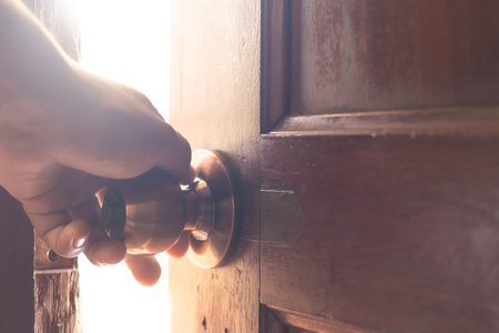Use your hand to open the door to the light.
