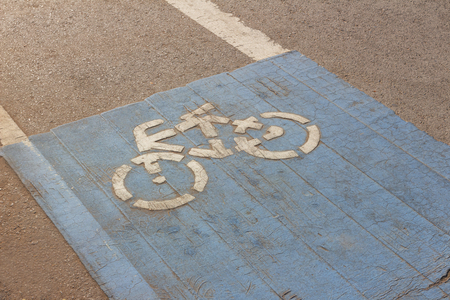 Bike lane or bicycle path and coastal road