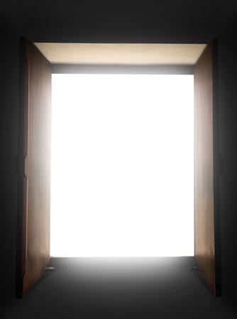 open door to light Stock Photo