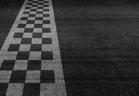 Start and finish line racing background top view
