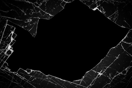 broken glass on a black background 스톡 콘텐츠
