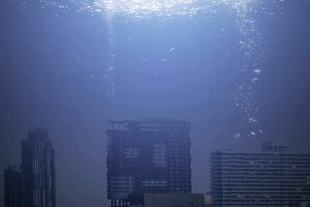 Modern city under the sea