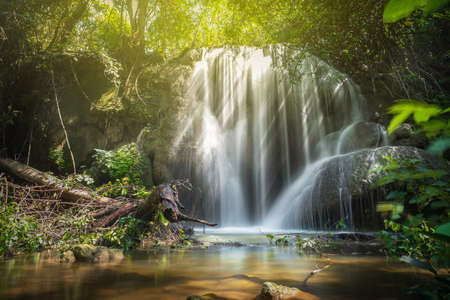 Beautiful waterfall in the rainy season, Thailand Stock fotó