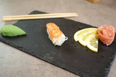 Sushi on a restaurant table