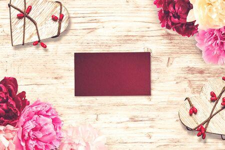 Scena di San Valentino. Ideale per testo di San Valentino, proposta e invito a nozze