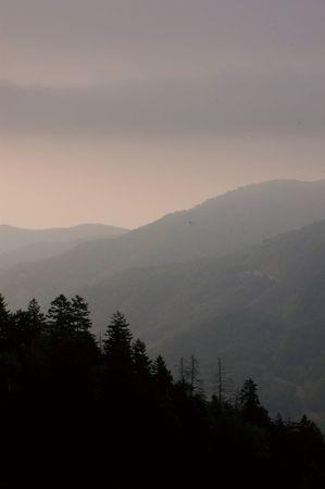 hazy sunrise Фото со стока
