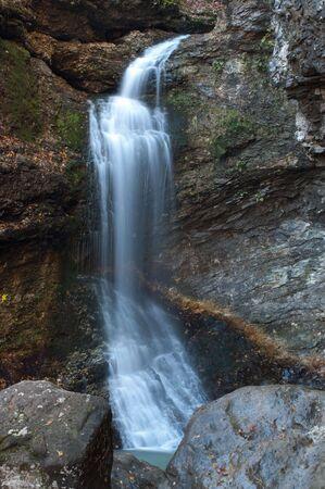 eden: Eden Falls In Lost Valley Stock Photo