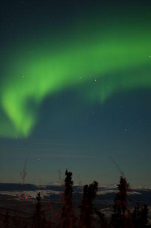 northern light: An aurora flare up Stock Photo
