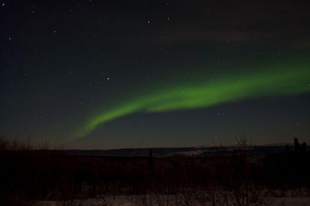 Neon Green Band From The Aurora Near Fairbanks, Alaska photo