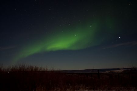 Dancing Midnight Lights From The Aurora Imagens