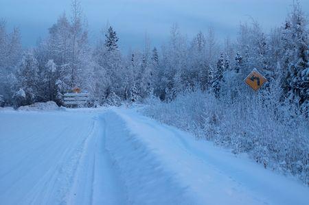 Dead End Along The Cold Alaska Highway